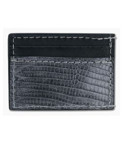 Yoder Leather Company Gray Lizard Clip Wallet