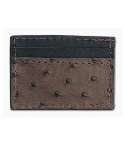 Yoder Leather Company Brown Ostrich Clip Wallet