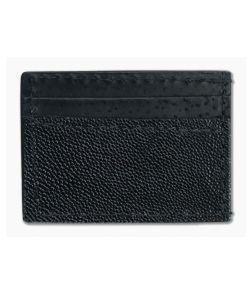 Yoder Leather Company Black Stingray Clip Wallet