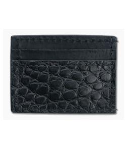 Yoder Leather Company Black Alligator Clip Wallet