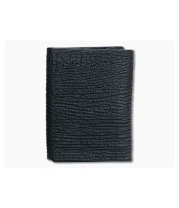Yoder Leather Company Black Shark Trifold Wallet