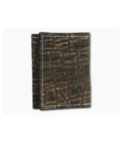 Yoder Leather Company Treebark Elephant Trifold Wallet