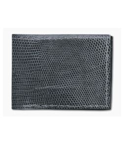 Yoder Leather Company Gray Lizard Regular ID Window Bifold Wallet