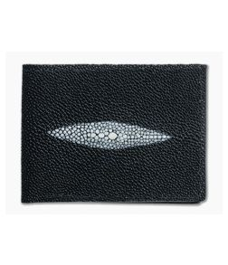 Yoder Leather Company Black Stingray Regular ID Window Bifold Wallet