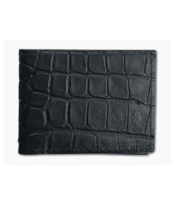 Yoder Leather Company Black Alligator Regular ID Window Bifold Wallet